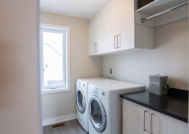 A very practical laundry room