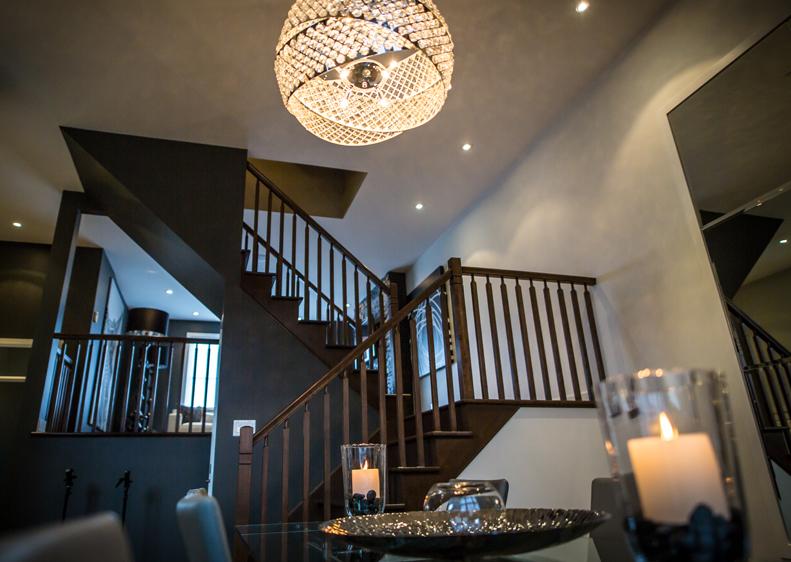 Espace salle à manger et salon de la maison modèle au Domaine du Parc