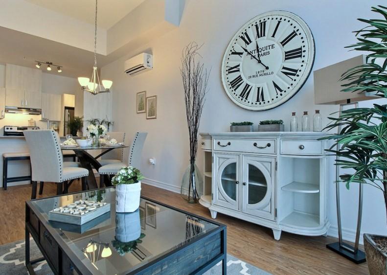 Espace à aire ouverte d'un appartement au Lib Boisbriand