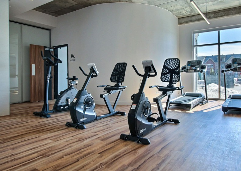 A fully-equipped private gym is accessible for the enjoyment of tenants