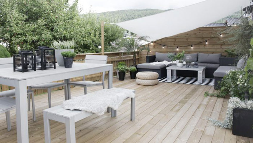 5 astuces pour une terrasse de r ve. Black Bedroom Furniture Sets. Home Design Ideas