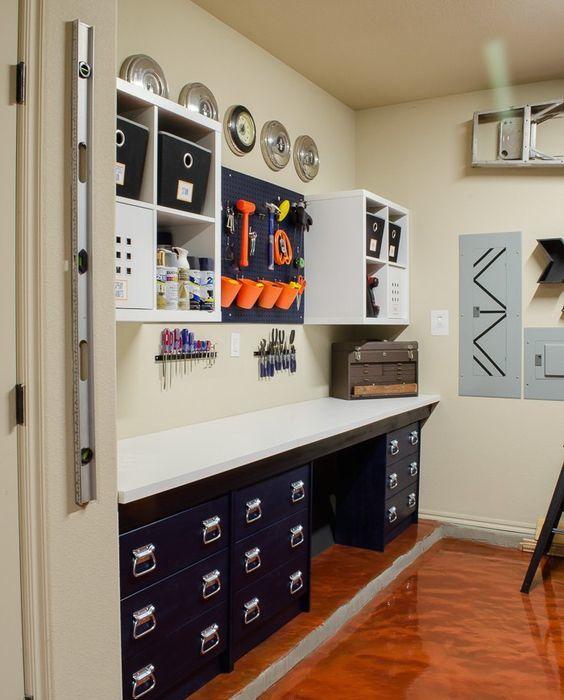 Rangement garage et espace travail