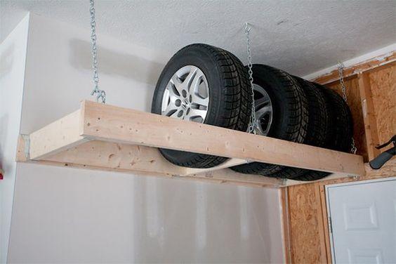Rangement pneus garage DiY
