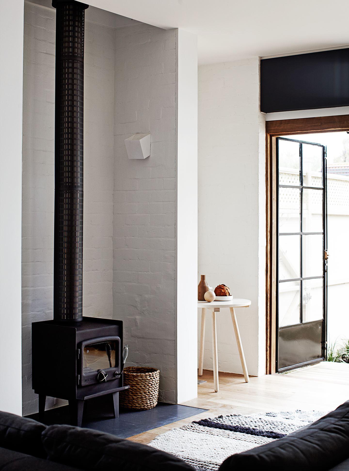Foyer style poêle à bois