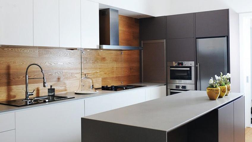 cuisine marbre et bois cuisine amp plan de travail en